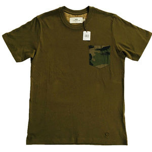 COACH Mens T Shirt F67003 Camouflage Army Green